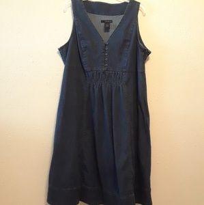 Denim Jumper Dress by Calvin Klein size 2X